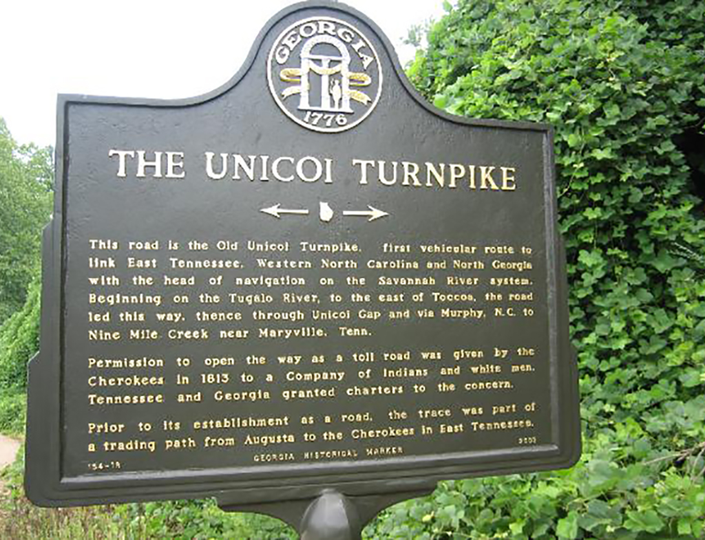 Unicoi Turnpike Trail Marker