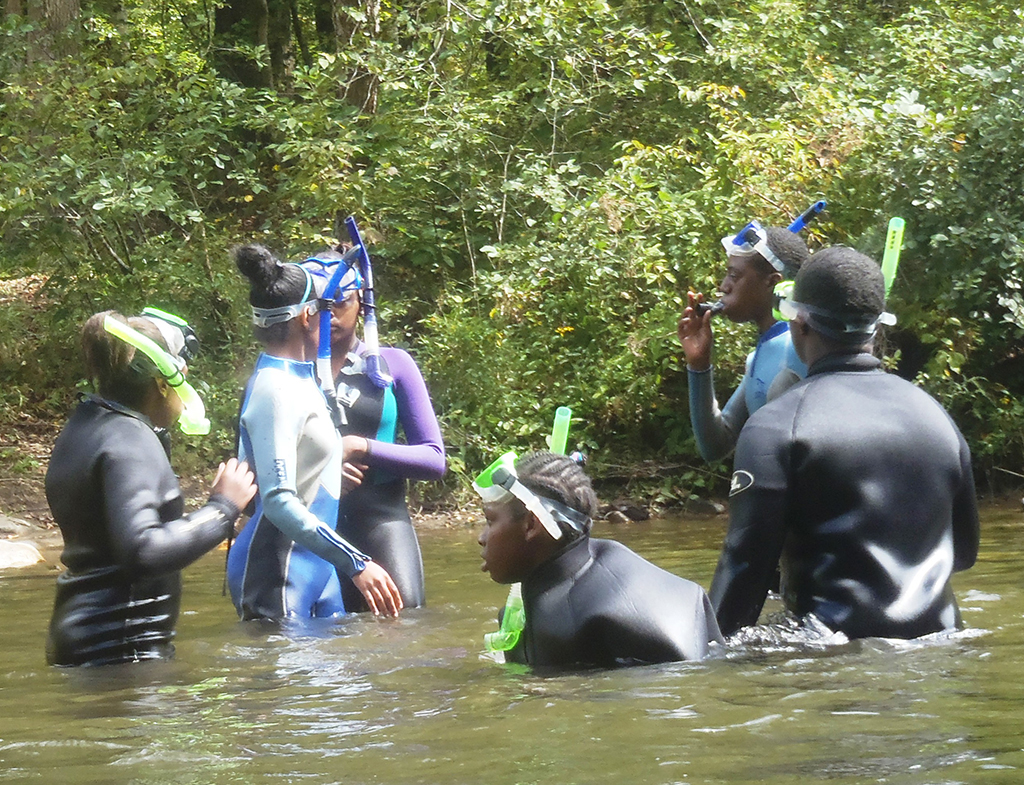 Snorkeling Fish Viewing on Conasauga River